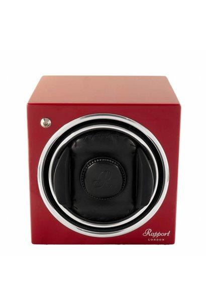 Rapport Evolution Evo Cube Watch Winder Crimson Red