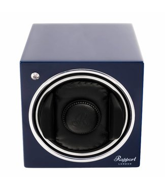 Rapport London Rapport Evolution Evo Cube Watch Winder Admiral Blue