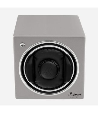 Rapport London Rapport Evolution Evo Cube Watch Winder Platinum Silver