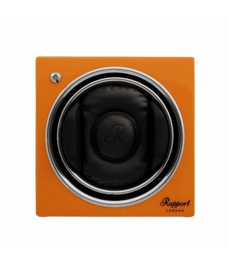 Rapport London Rapport Evolution Evo Cube Watch Winder Sunset Orange
