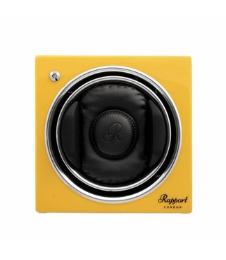 Rapport London Rapport Evolution Evo Cube Watch Winder Citrus Yellow