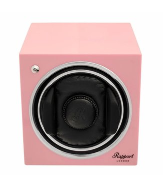 Rapport London Rapport Evolution Evo Cube Watch Winder Rose Pink