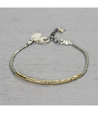 Jeh Jewels Bracelet silver with long gold filled tube