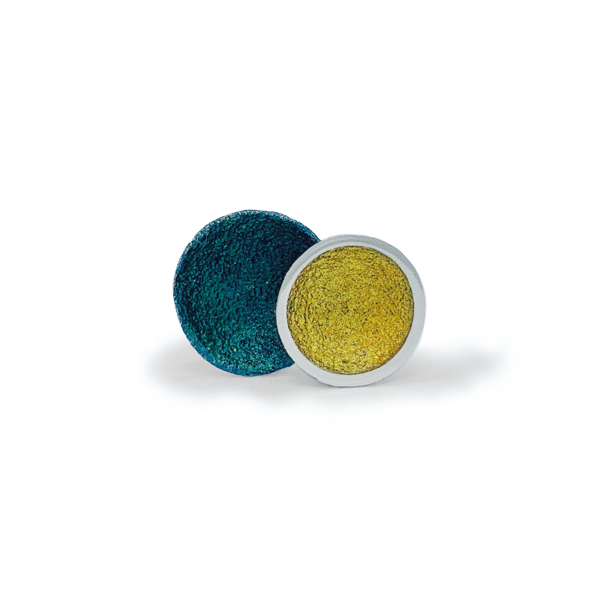 Singular large earrings green-1