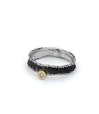 Arior Barcelona Dorm Ring 54 zilver texture