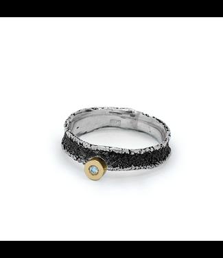 Arior Barcelona Dorm Ring 56 zilver texture