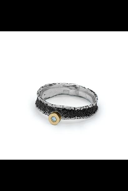 Dorm Ring 56 zilver texture