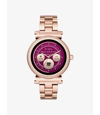 Michael Kors Dames Rose Gold-Tone Smartwatch Access Sofie MKT5063
