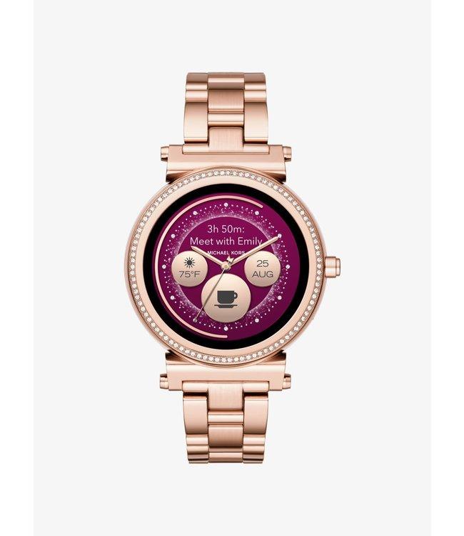 Michael Kors Dames Rose Gold-Tone Smartwatch Access Sofie MKT5063