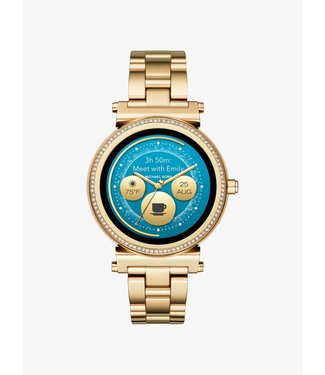 Michael Kors Dames Gold-Tone Smartwatch Access Sofie MKT5062