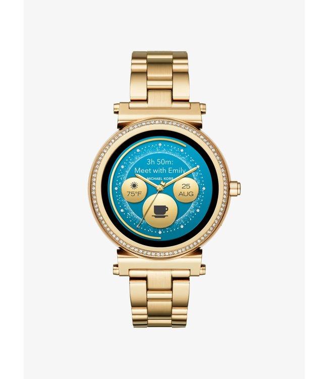 Michael Kors Dames Gold-Tone Smartwatch Access Sofie MKT5062