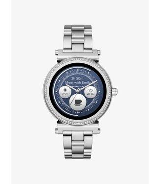 Michael Kors Dames Zilver-Tone Smartwatch Access Sofie MKT5061
