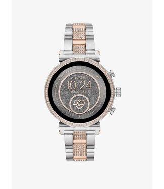 Michael Kors Dames Rose/Zilver-Tone Smartwatch Access Sofie MKT5064