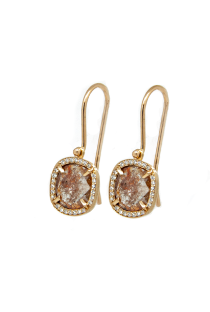W. de Vaal - Earrings 14k Red Gold