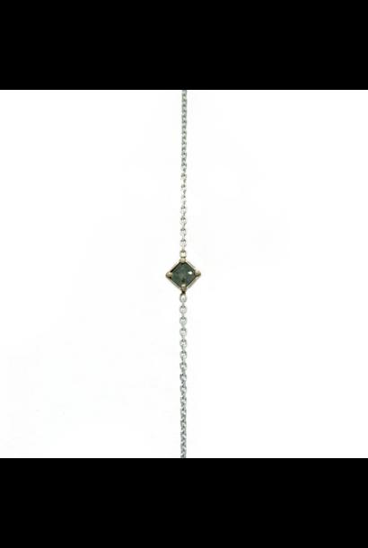 W. de Vaal - 14k White Gold Bracelet
