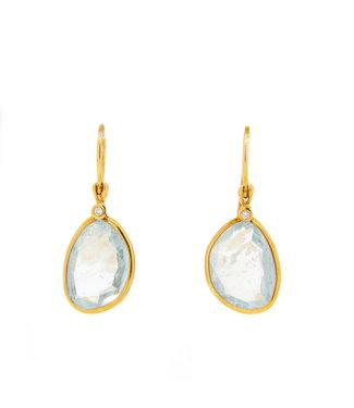 Jeh Jewels Earring + G14K + Aquamarine 0.02ct H / SI