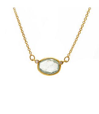 Jeh Jewels Collier G14K + Aquamarine