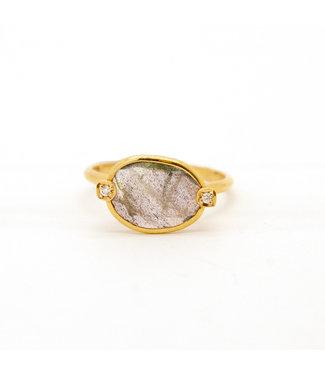 Jeh Jewels Jéh Ring G14K + Labradoriet Size 17