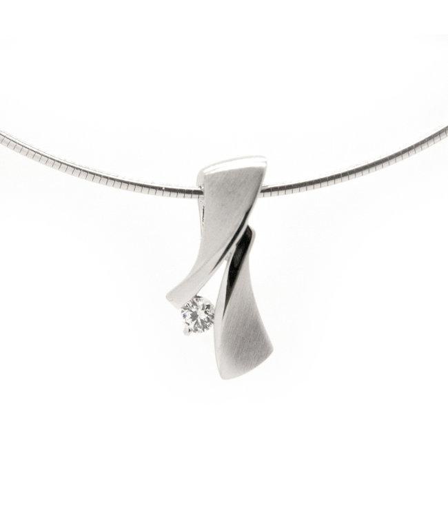 Zilveren Hanger Gerhodineerd Zirkonia