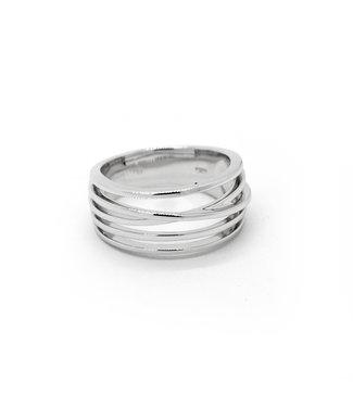 Breuning Zilv. Ring rhod. Size 56