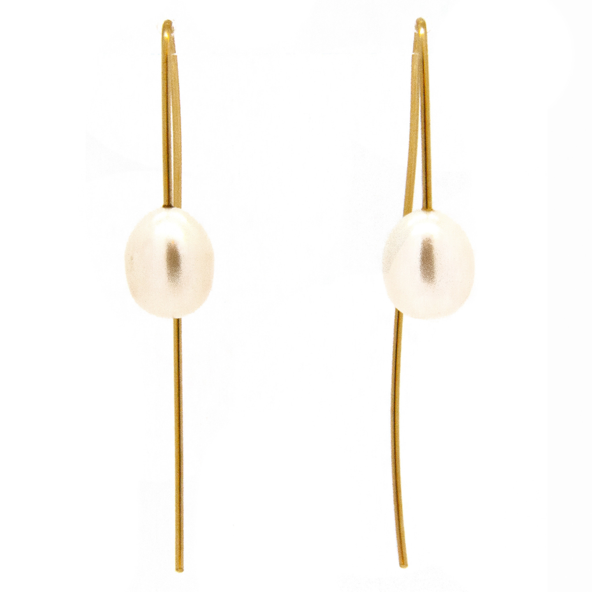 14k gold earrings with freshwater pearl-3
