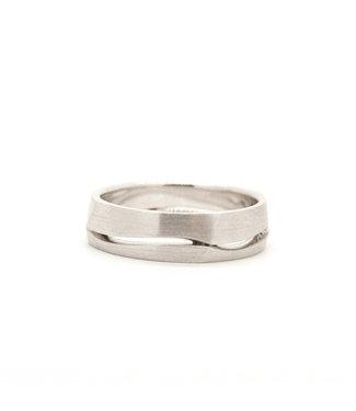 Vincent van Hees 14k White Gold Wedding Ring