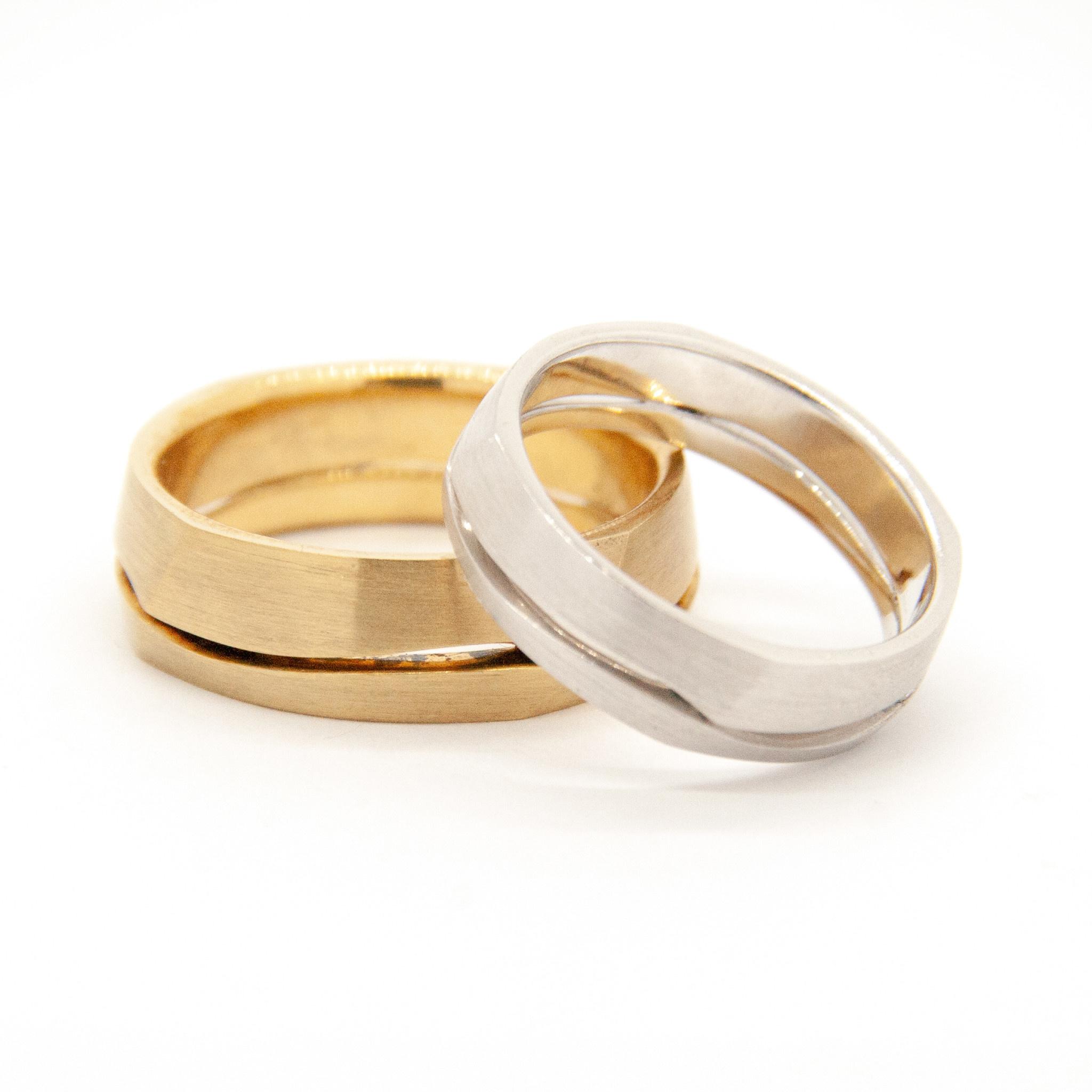 14k White Gold Wedding Ring-3