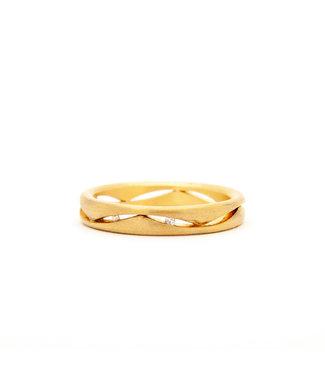Vincent van Hees 14Krt Geel gouden Trouwring