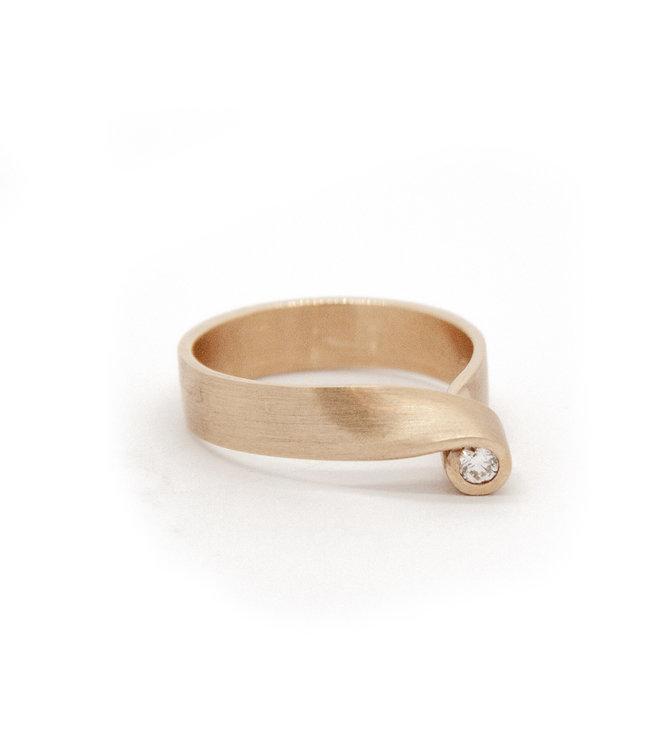 14Krt Geel gouden ring maat 56