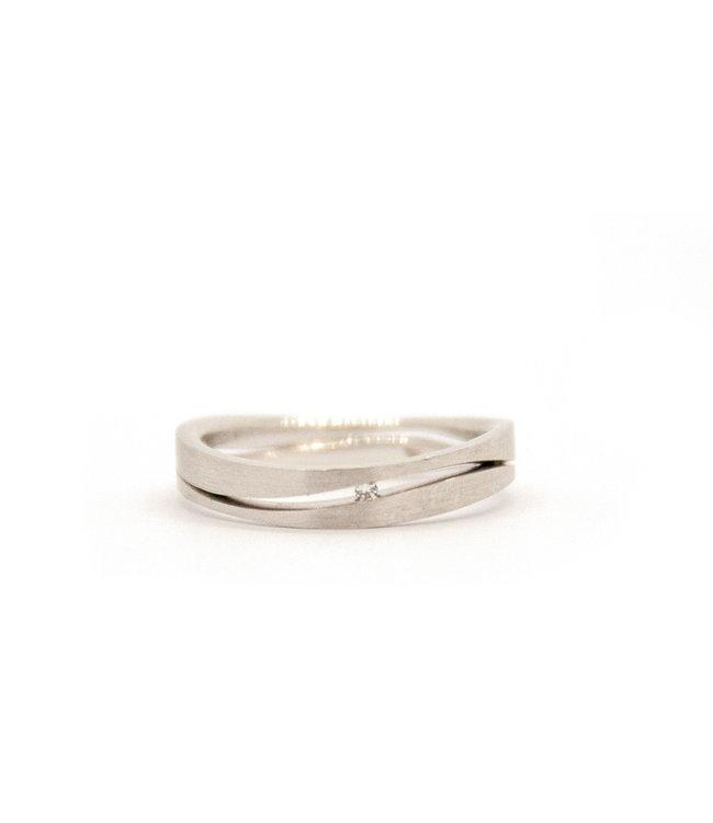 14k White Gold Wedding Ring