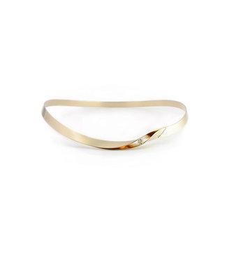 Vincent van Hees 14Krt Geel gouden armband