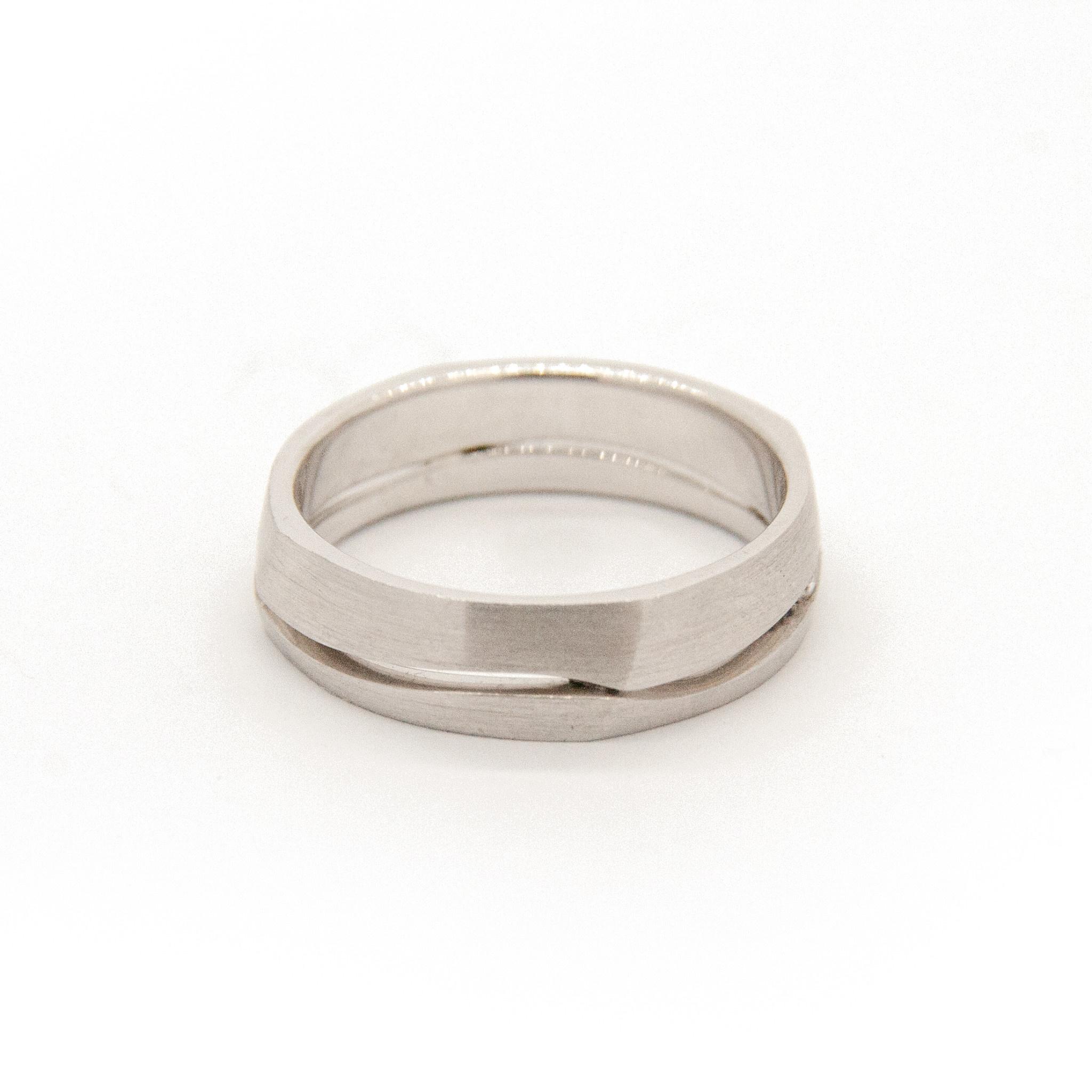 14k White Gold Wedding Ring-5