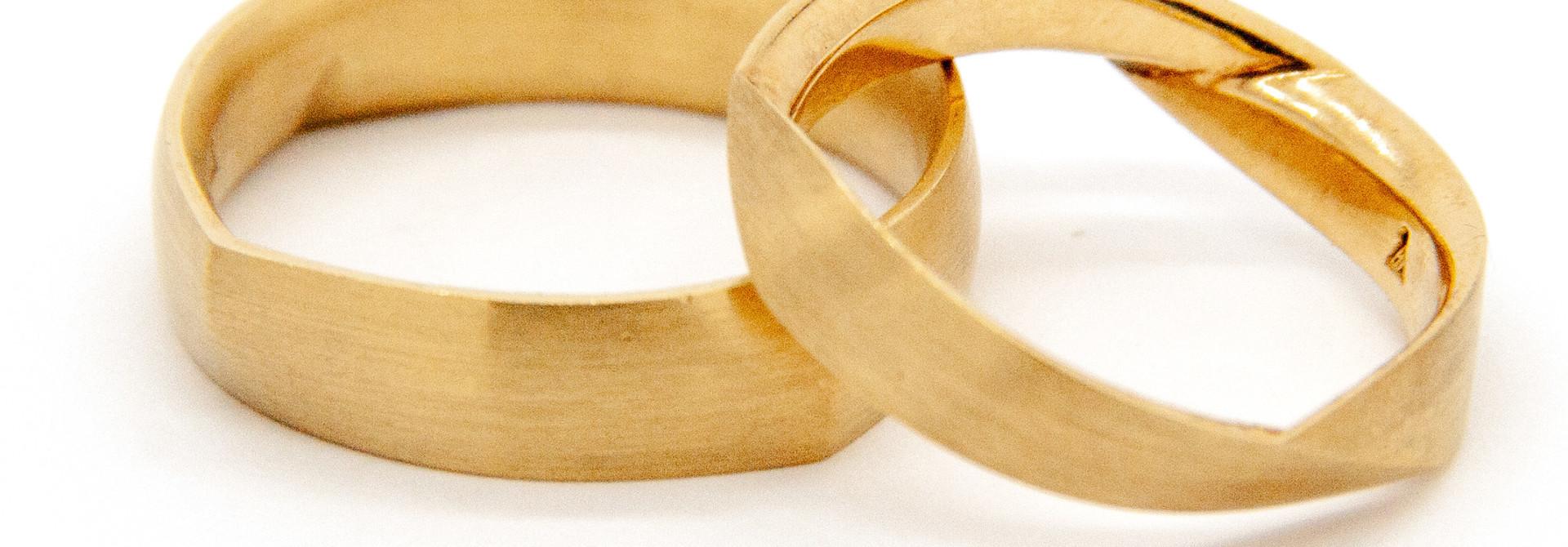 14Krt Geel gouden Trouwring
