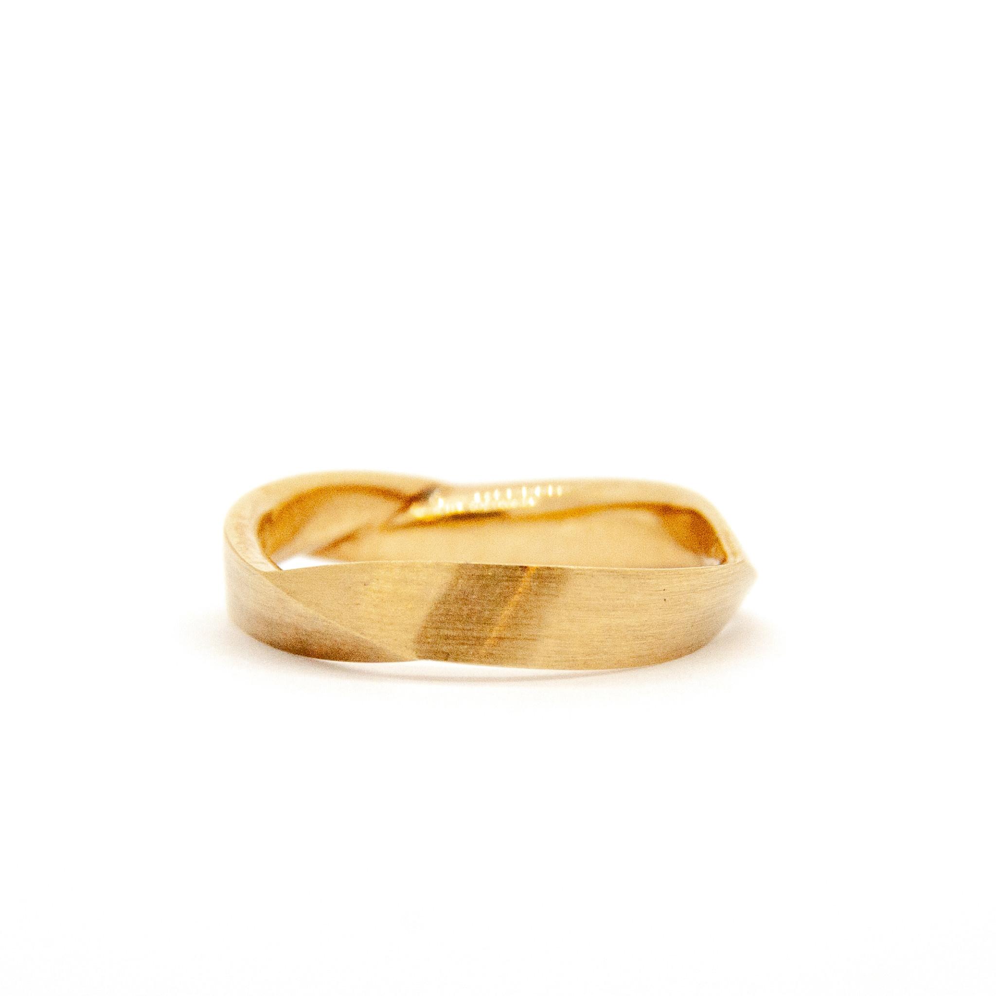 14Krt Geel gouden Trouwring-2