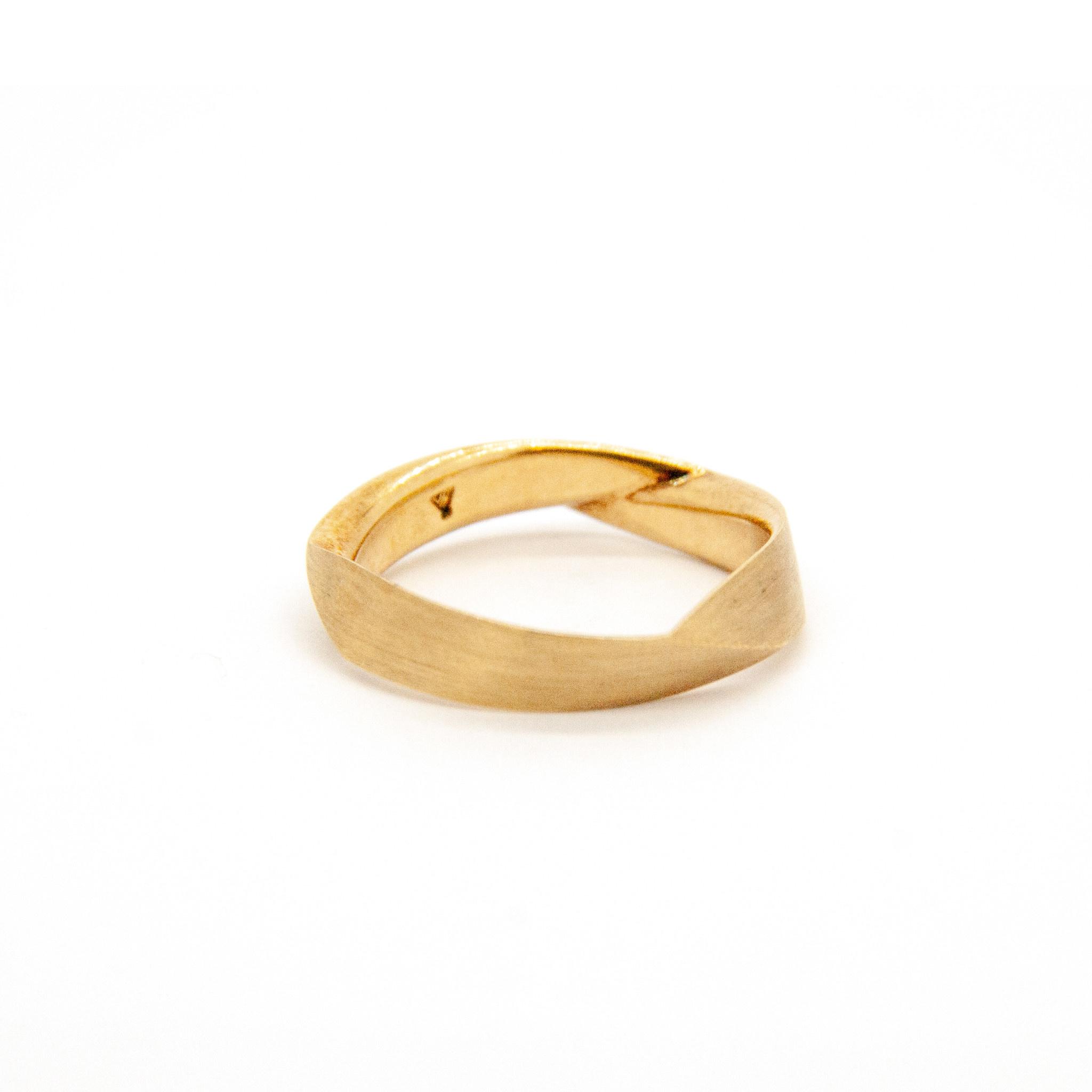 14Krt Geel gouden Trouwring-3