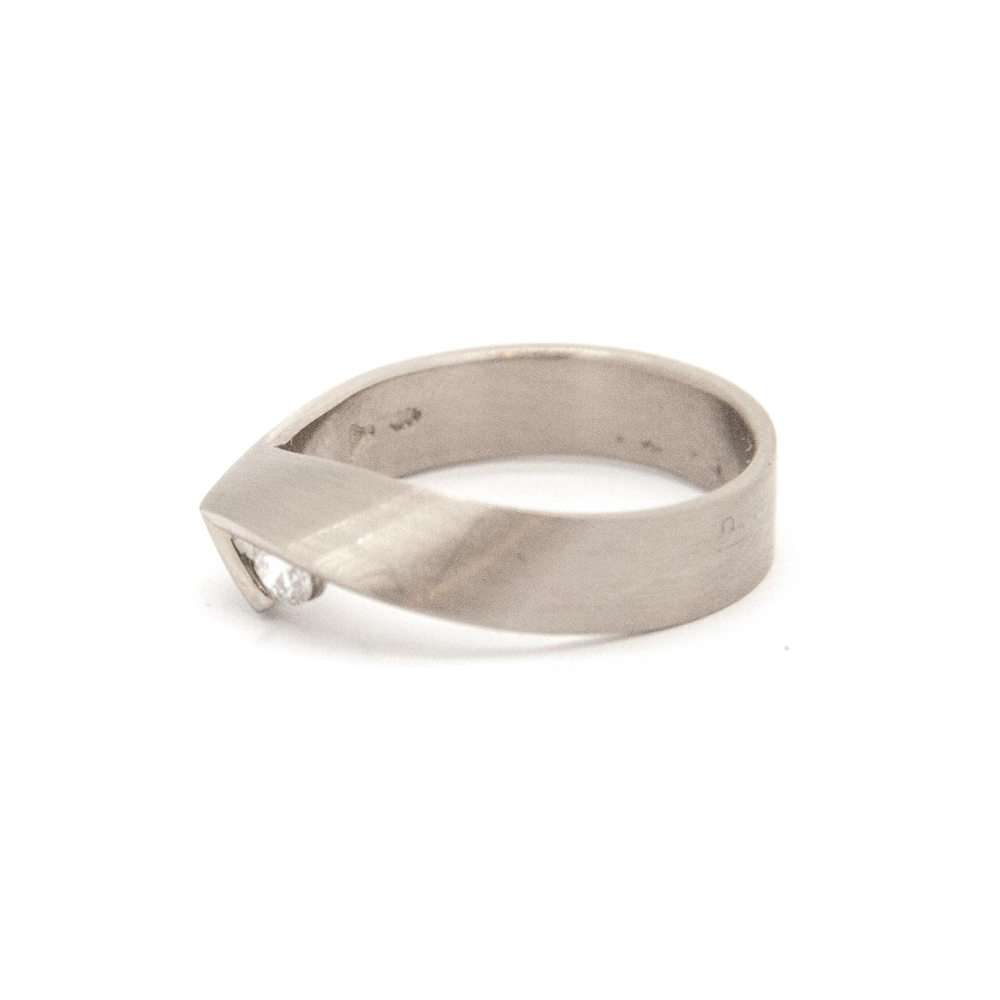 14Krt Wit gouden ring maat 55-1