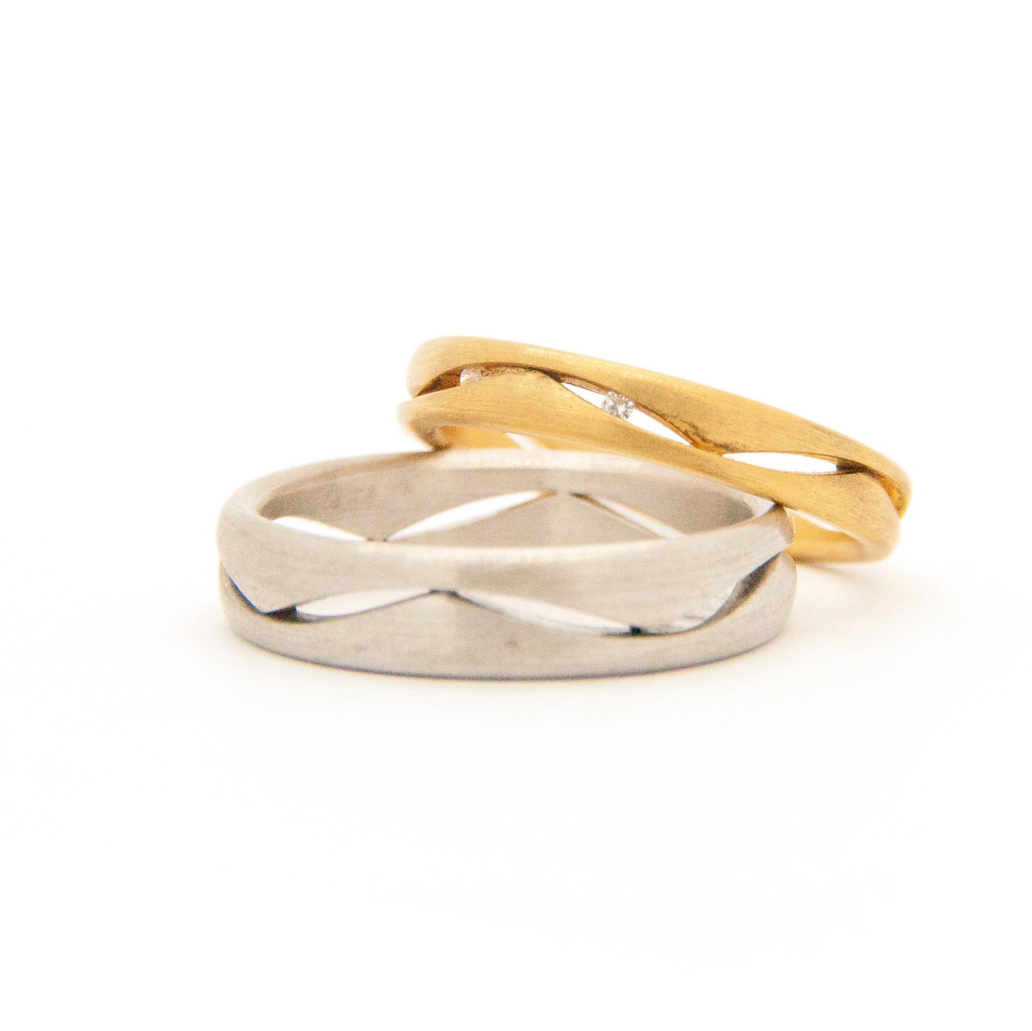 14k White Gold Wedding Ring-6