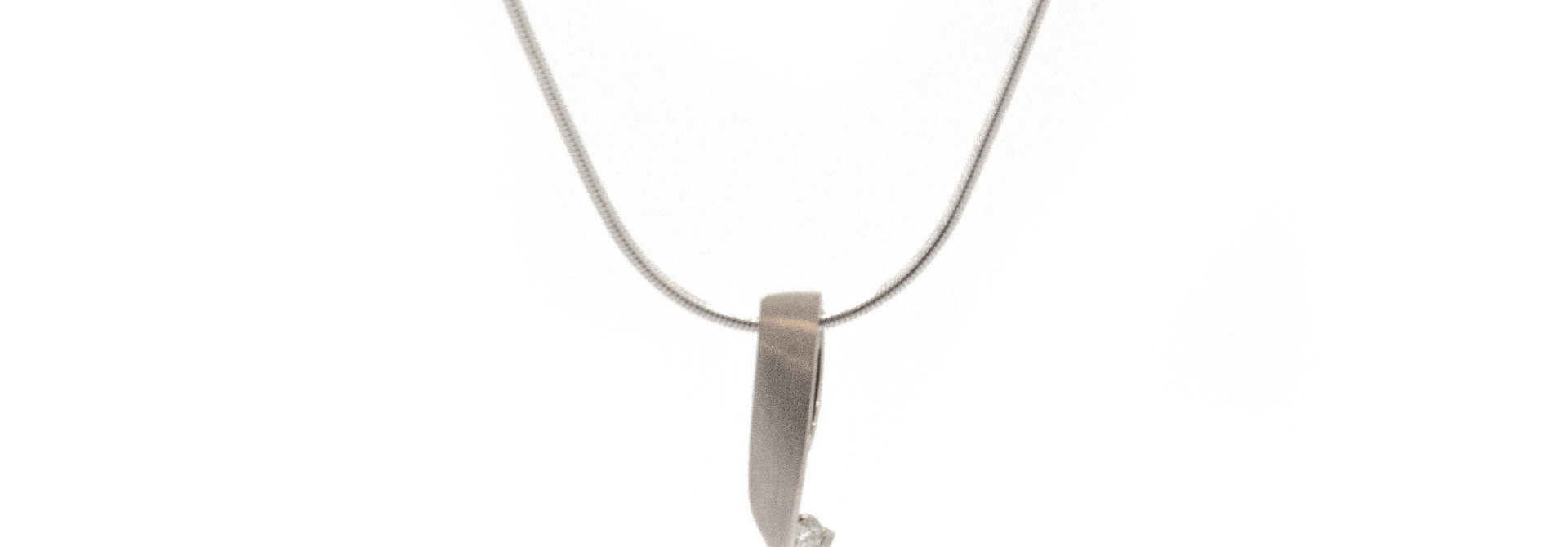 14k White Gold Pendant excl. Coll