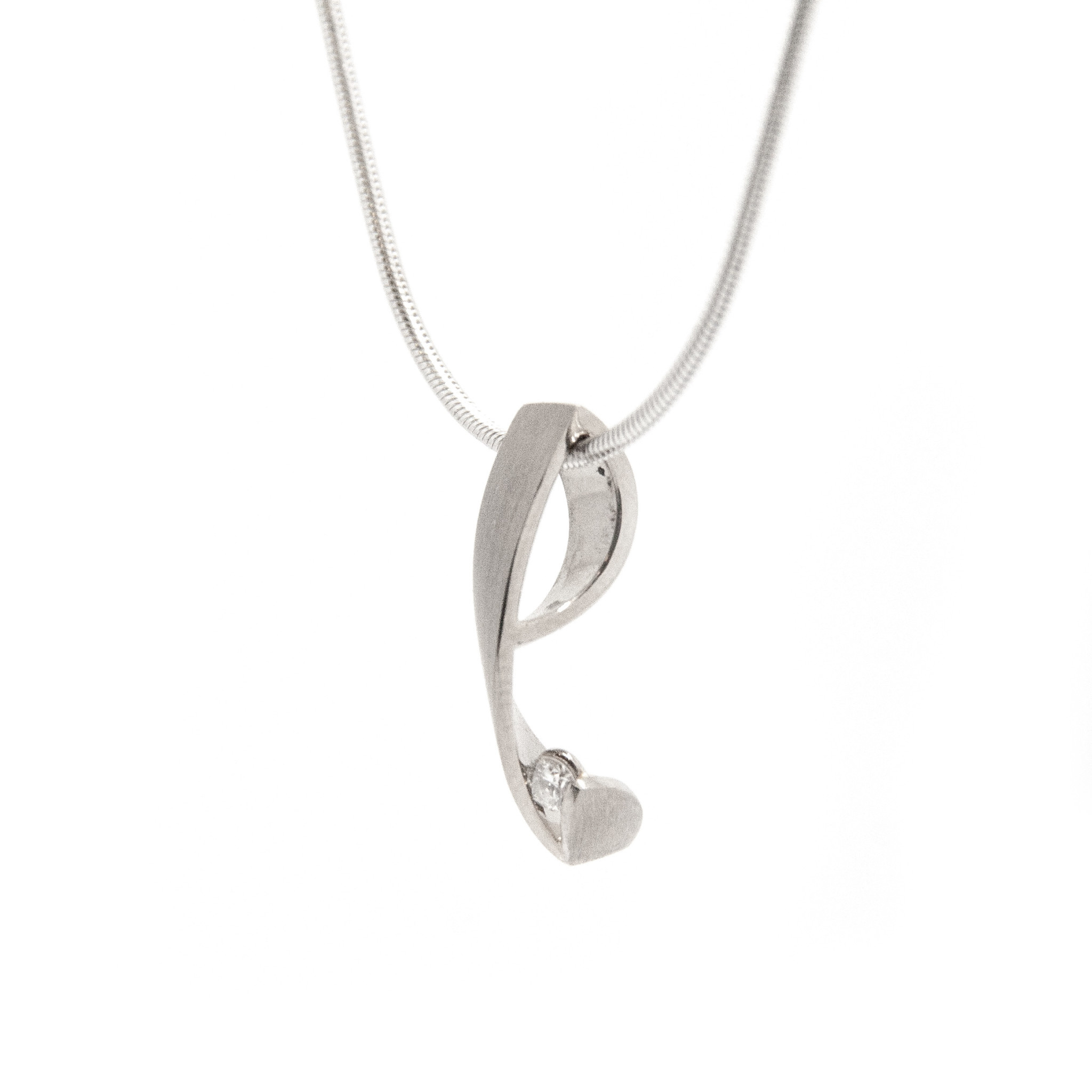 14k White Gold Pendant excl. Coll-2