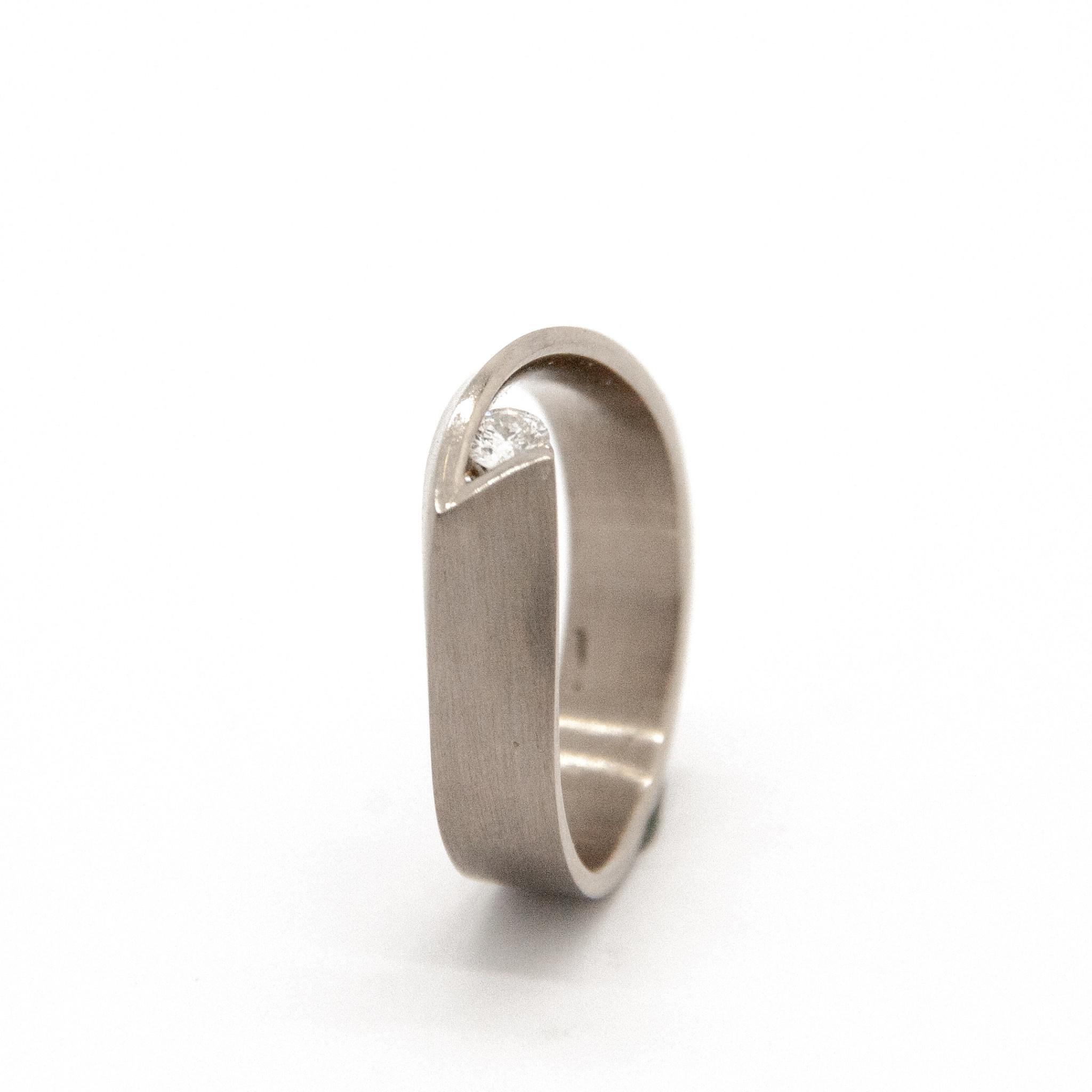 14Krt Wit gouden ring maat 55-3