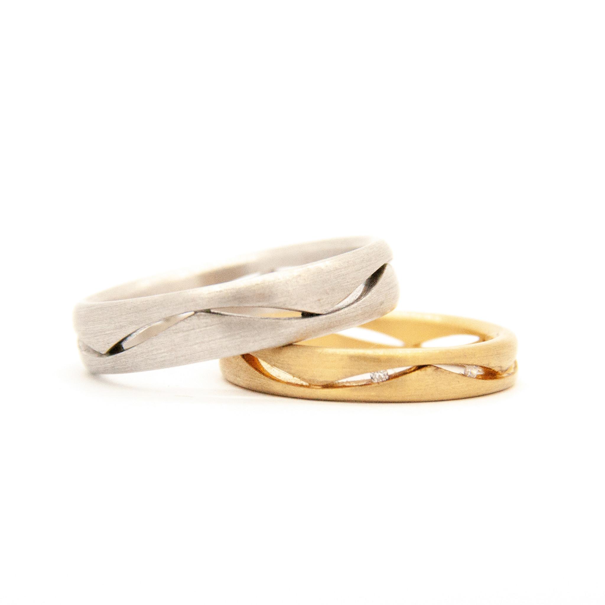 14k White Gold Wedding Ring-7
