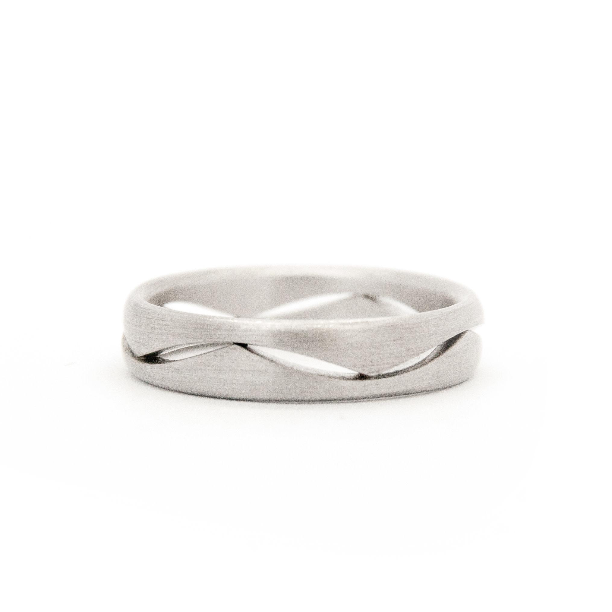 14k White Gold Wedding Ring-8