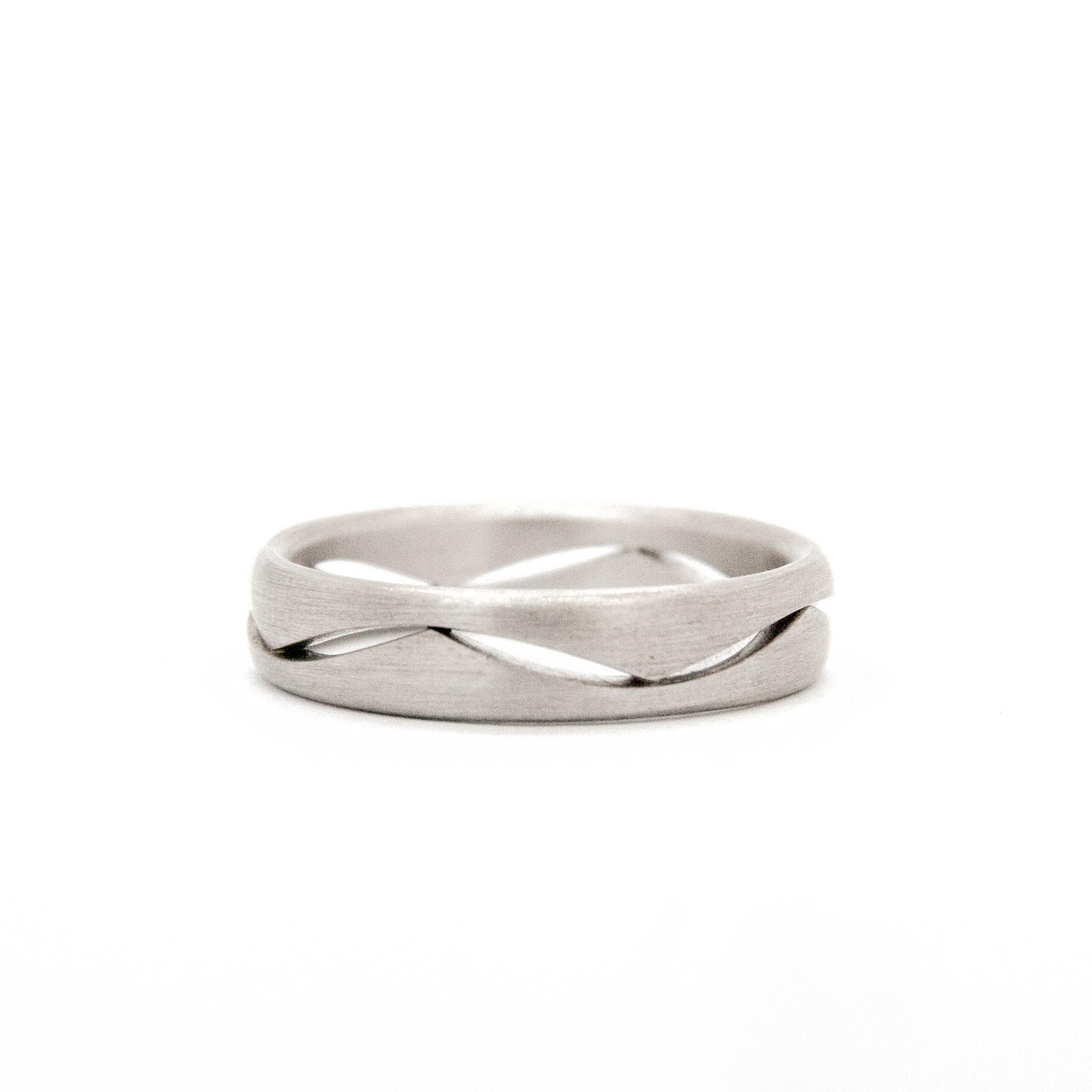 14k White Gold Wedding Ring-10