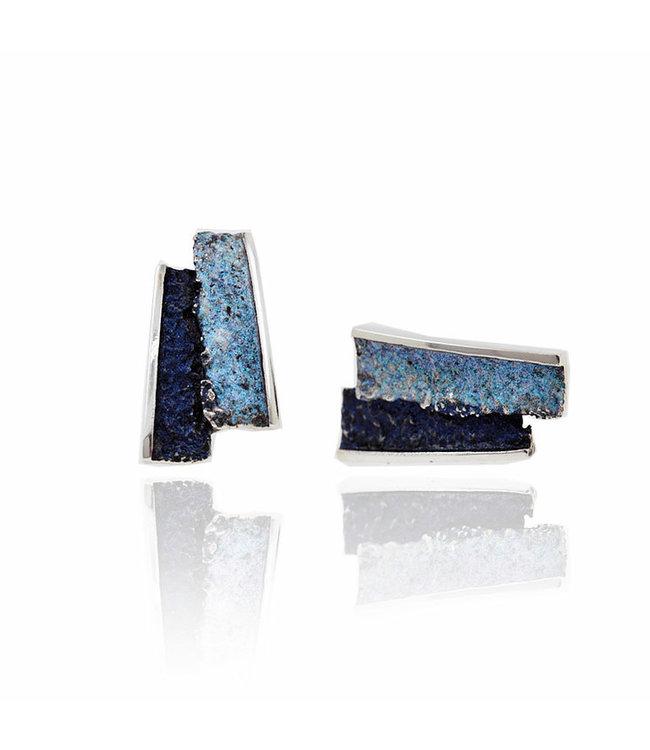 Small Formentera-blue Troia Oorbellen