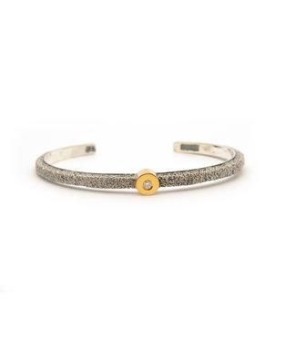 Arior Barcelona Kora small round Armband 0.07Crt Zilver met 18krt geel goud.