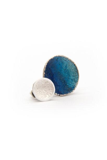 Singular blue Duplex Oorbellen