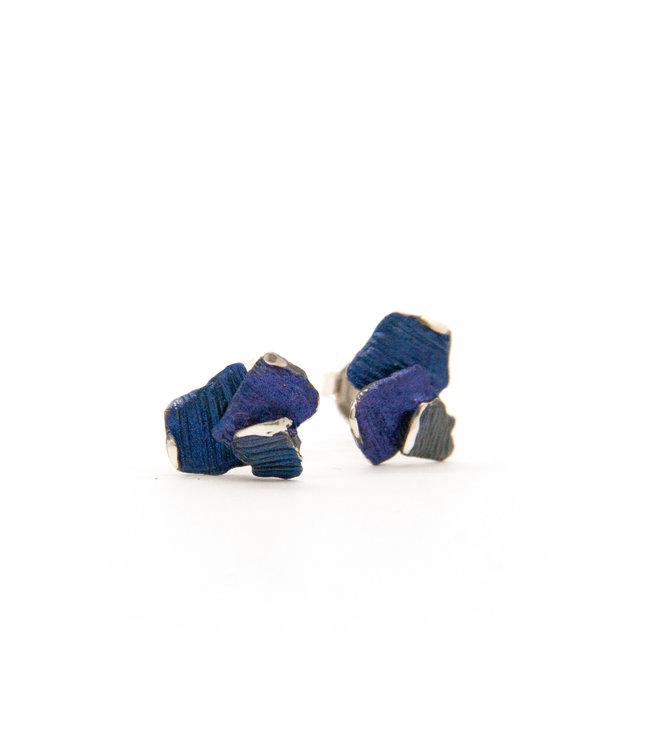 Small blue/violet Summum Oorbellen