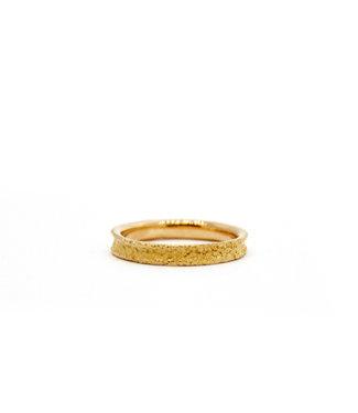 Arior Barcelona Wedding ring Anell desert mini 18 karaats geelgoud