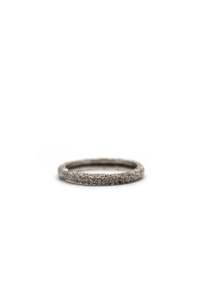Wedding ring Anell desert canya petit 18 karaats witgoud