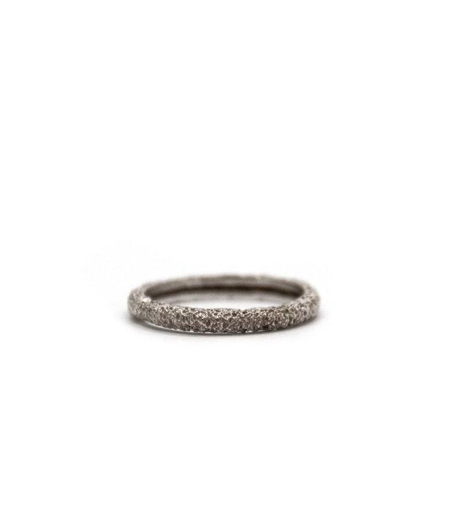Arior Barcelona Wedding ring Anell desert canya petit 18 karaats witgoud